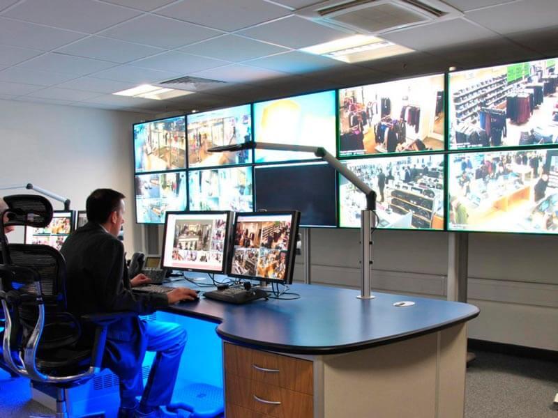 Evolution media wall for cctv control room