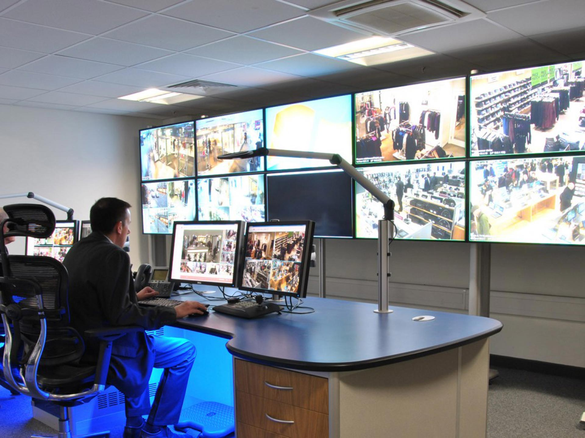 media wall for CCTV control room example