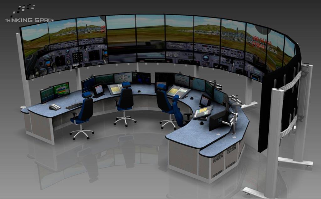 Simulator Render Example using Evolution Media Wall