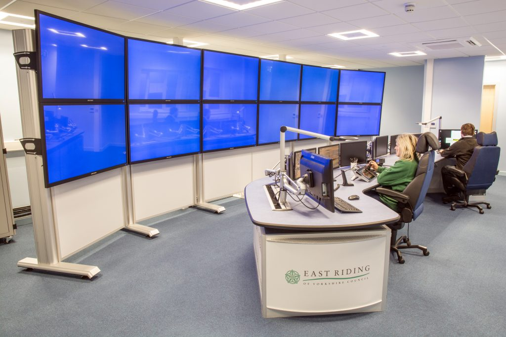 CCTV control room media wall example