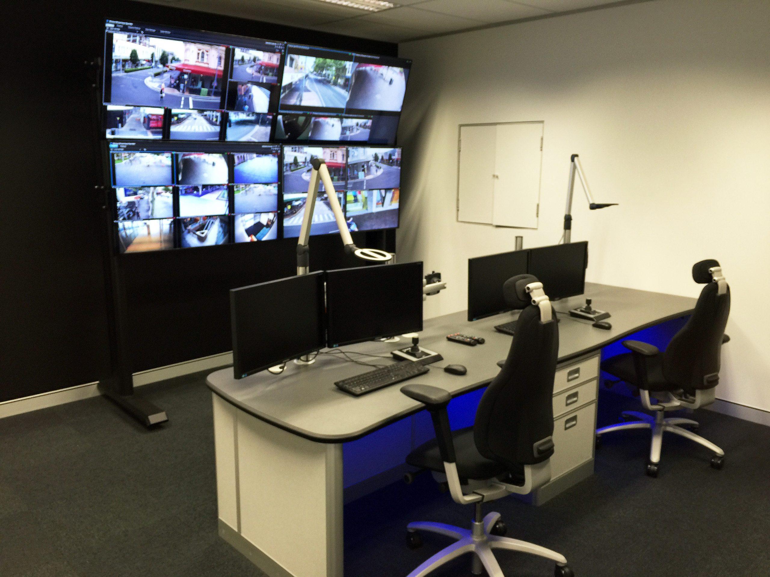 powdercoated media wall example
