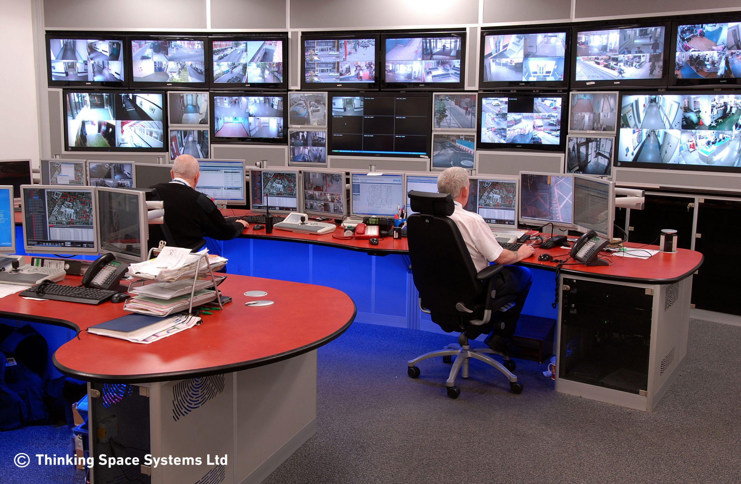 Enclosed monitor wall example